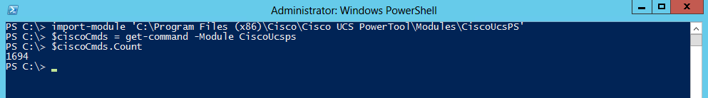 Cisco PowerTool cmdlet count