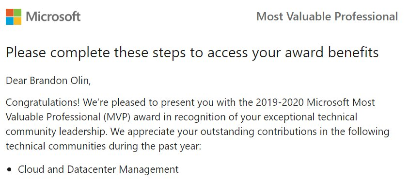 MVP notification